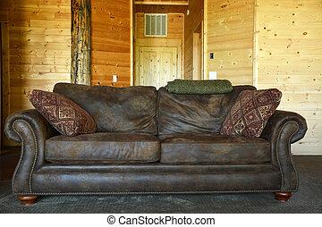 ouderwetse , stijl, interior-, sofa