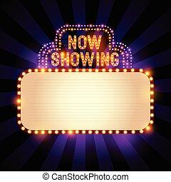 ouderwetse , theater, meldingsbord
