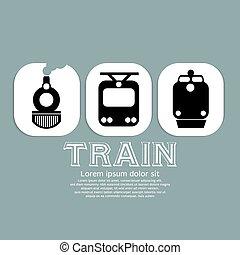 ouderwetse , trein, collection.