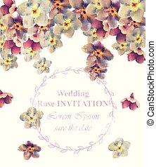ouderwetse , trouwfeest, frame, floral, vector., beauty, floral decoratie, banieren