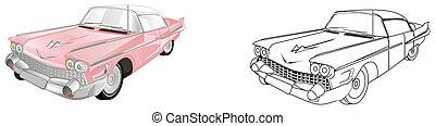 ouderwetse , twee, auto's