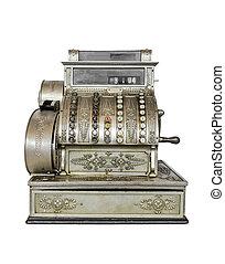 ouderwetse , typemachine, close-up.