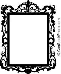 ouderwetse , vector, frame.