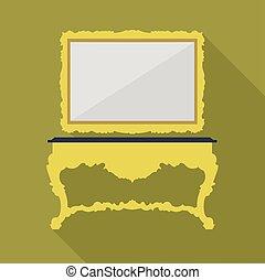 ouderwetse , vector, groene, digitale , tafel