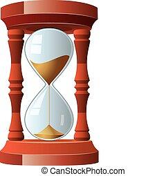 ouderwetse , vector, illustratie, hourglass