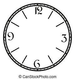 ouderwetse , vector, klok