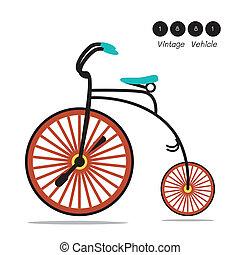 ouderwetse , velocipede, fiets