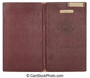 ouderwetse , verenigde staten paspoort, dekking
