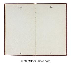ouderwetse , verenigde staten paspoort, met, leeg, pagina's