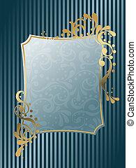 ouderwetse , victoriaans, frame, rechthoekig