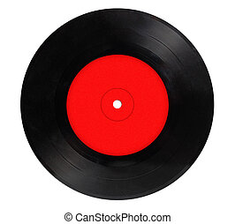 ouderwetse , vinylverslag, vrijstaand, op wit, achtergrond