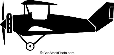 ouderwetse , vliegtuig, zijaanzicht