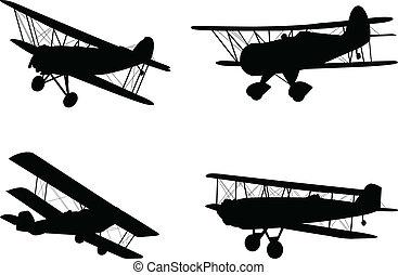 ouderwetse , vliegtuigen