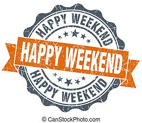 ouderwetse , vrijstaand, zeehondje, sinaasappel, witte , weekend, vrolijke