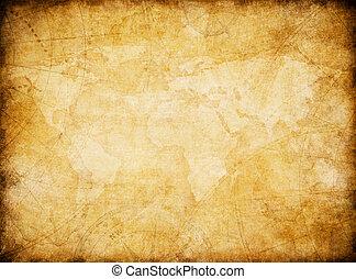ouderwetse , wereld, stylization, achtergrond, kaart