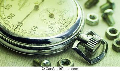 ouderwetse , wijzerplaat, stopwatch.