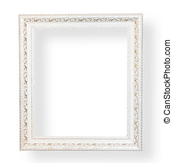 ouderwetse , witte , decorative., frame
