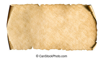 ouderwetse , witte , papier, blad, vrijstaand