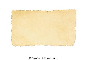ouderwetse , witte , papier, oud, vrijstaand