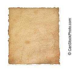 ouderwetse , witte , papier, perkament