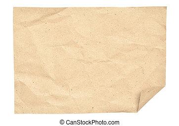 ouderwetse , witte , papier, vrijstaand