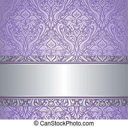 ouderwetse , zilver, luxe, wa, viooltje