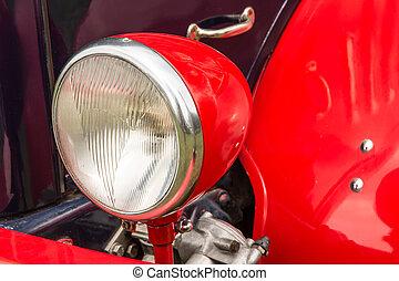 oudgediende, koplamp