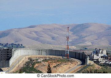 ouest, israël, banque, barrière