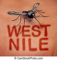 ouest, maladie, nil