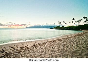 ouest, plage kaanapali, hawaï, maui