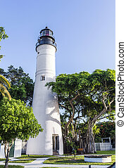 ouest principal, floride, usa, phare