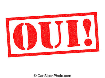 OUI! Rubber Stamp
