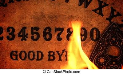 Ouija Board on Flames