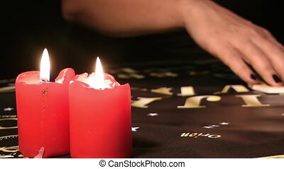 Ouija Board Talking with Spiritual Powers Mystic Concept