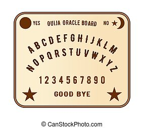A ouija oracle board as used my mediums to talk to the dead or past on spitits