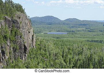 Ouimet Canyon near Thunder bay  North of Superior Lake