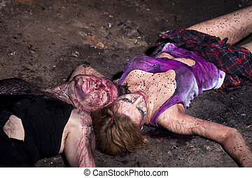 ?ouple of bloody victims