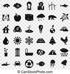 Our earth icons set, simple style