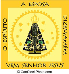 Our Lady Aparecida. Illustration of the place where it is...