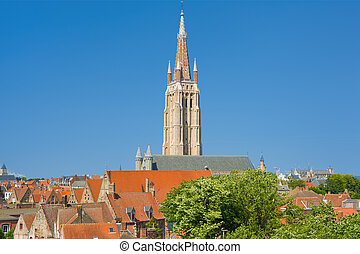 Our Lady Church in Bruges - The Our Lady Church in Bruges in...