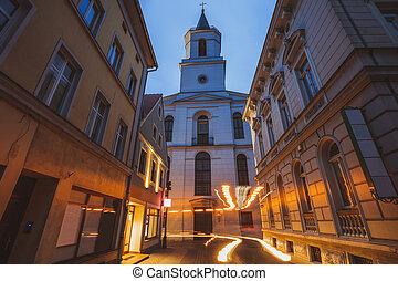 Our Lady of Czestochowa Church in Zielona Gora. Zielona Gora, Lubusz, Poland.