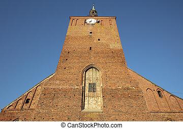Our Lady of Cz?stochowa church  in Darlowo. Darlowo, West Pomerania, Poland.