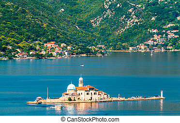 Our Lady of the Rocks Island in the Bay of Kotor, Montenegro