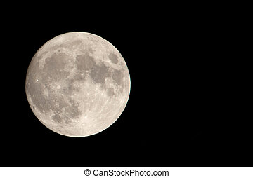 Our Moon with Negative Space - Full Moon