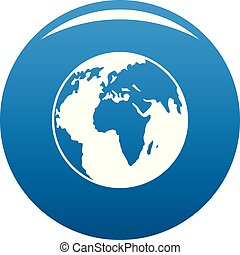 Our planet icon blue vector
