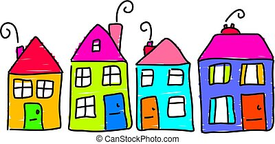 row house clipart and stock illustrations 3 488 row house vector rh canstockphoto com