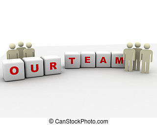our team - illustration of our team symbol isolated on white...
