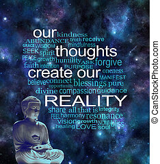Our Thoughts Create Our Reality Word Cloud