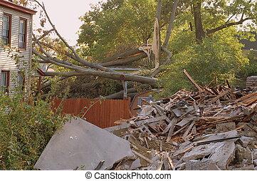 ouragan, abîmer
