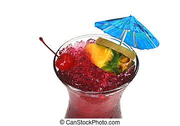ouragan, boisson, isolé